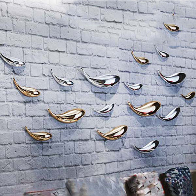 Creative  wall decorations home ornaments 3D decorative wall plating half fish sofa background no punch Wall Hanging Decorations