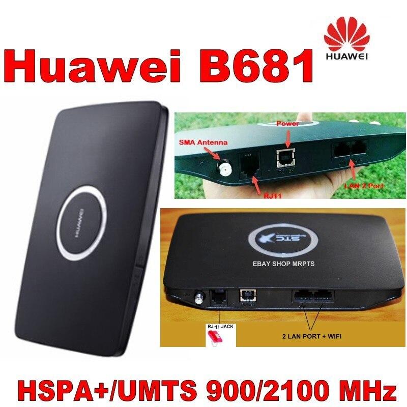 Lot Of 10pcs Huawei B681 3G UMTS HSPA WCDMA 28.8Mbps Wireless Router WPS Home Gateway SIM.DHL Shipping