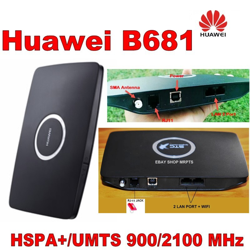 Lot of 10pcs Huawei B681 3G UMTS HSPA WCDMA 28.8Mbps Wireless Router WPS Home Gateway SIM.DHL shipping