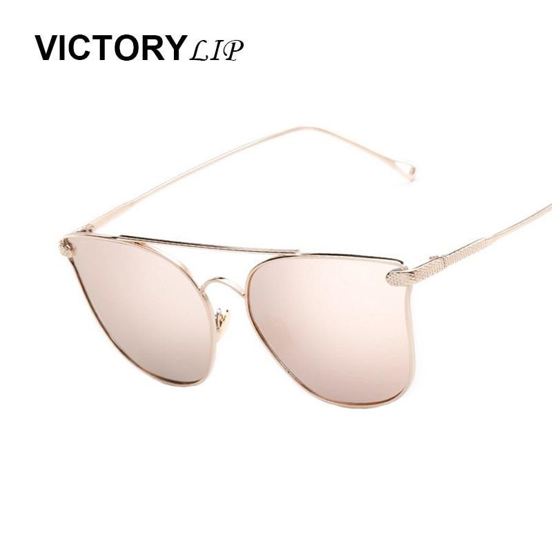 Victorylip cat eye armação de metal óculos de sol das mulheres designer de  marca feminina de luxo retro espelho óculos de sol óculos de sol óculos de  sol do ... 9ae57a4652