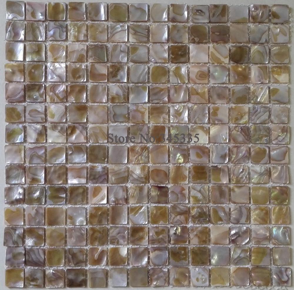 US $100.10 10 STÜCKE Natürliche bunte perlmutt muschel mosaik fliesen küche  backsplash badezimmer interieur tapete grenze wandflieseninterior
