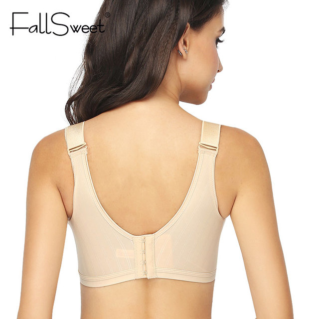 FallSweet No Wire Bra for Women Seamless Brassiere B C cup Push Up Bra Wide Strap