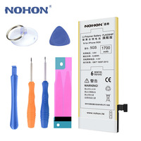 Top Quality NOHON Battery 1700mAh Mobile Phone Battery Free Repair Machine Tool For Apple IPhone 5S