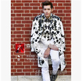 New brand Male singer DJ right Zhi-Long GD same style GVC ink flower show star mens stage suit dress Nightclubs costumes VSTINUS