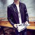 LQ26 PU Men Fashion Leather Jacket Casual Mens Leather Jackets And Coats Pilot Leather Jacket Men
