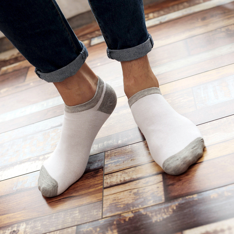 Cotton Men Socks Quality Brand Spring summer Business Funny Striped Splicing color Happy Dress Male boat ankle Socks 17-116