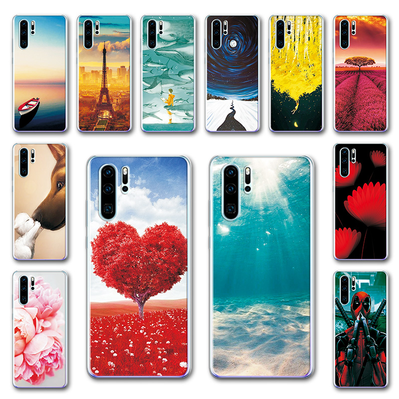 """Newest Pattered Case Coque For Huawei P30 Pro Various Phone Shell VOG-L29 ELE-L29 6.47"""" Soft Back Cover Funda For Huawei P30 Pro"""