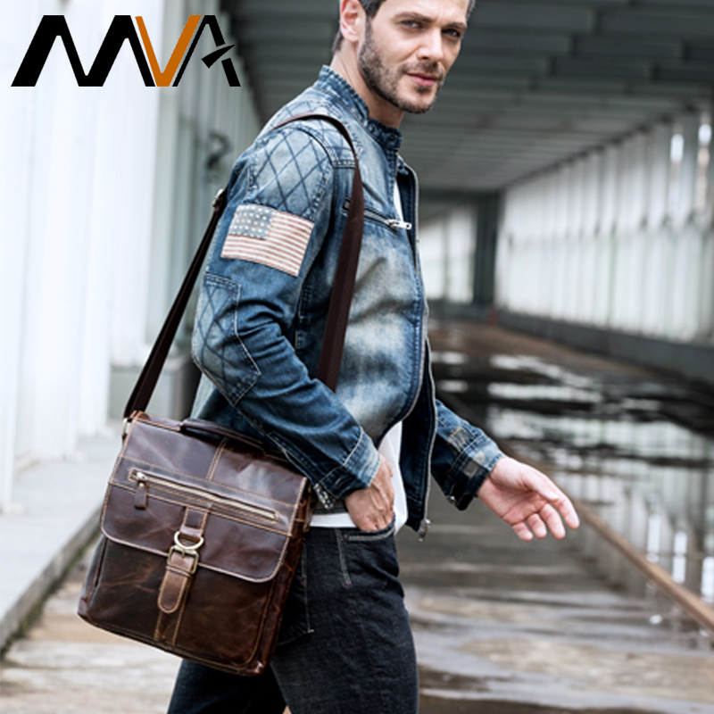 MVA Messenger Bag Men Leather Shoulder Bag Male Genuine Leather Crossbody Bags for Men top-handle Men's Bags Hasp male handbags top power men bag fashion genuine leather men crossbody shoulder handbags men s briefcase men bags double bag messenger bag male