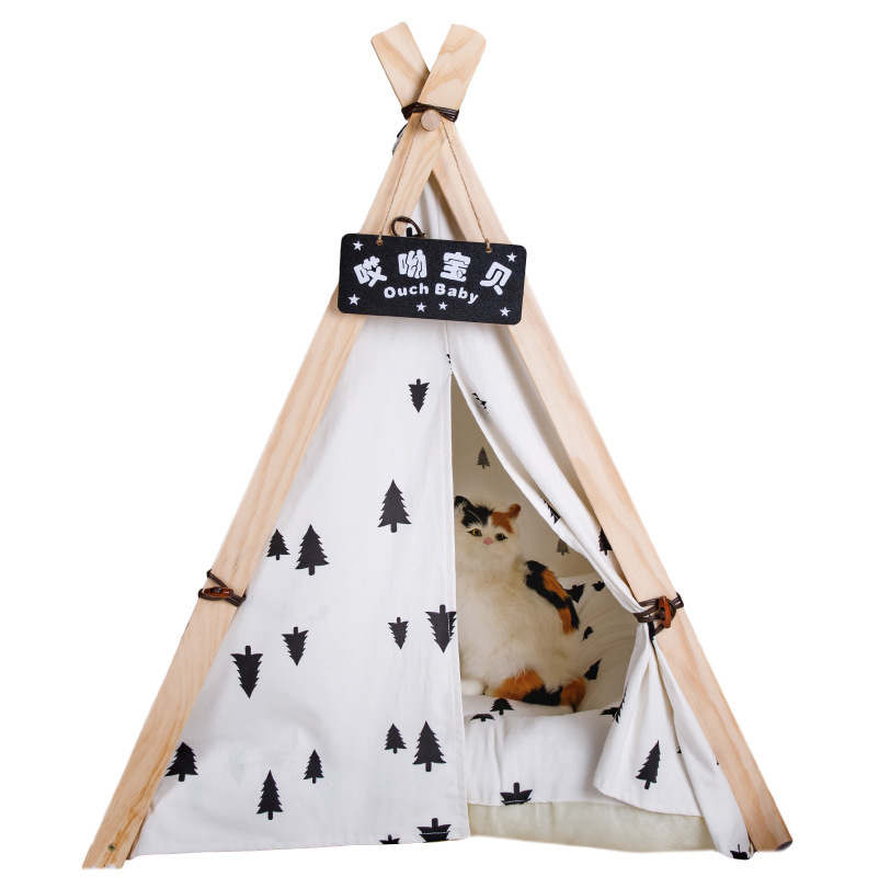 Detachable Cotton Canvas Small and Medium Pet Nest Winter Triangle Pet Tent  Little Tike Triangle Playhouse for Kids OutdoorDetachable Cotton Canvas Small and Medium Pet Nest Winter Triangle Pet Tent  Little Tike Triangle Playhouse for Kids Outdoor