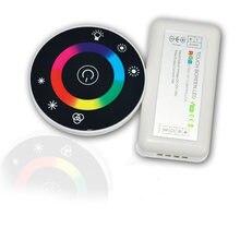 Диммер для стеклянной панели, Круглый Цветной RGB-контроллер для светодиодных лент, 12 В, 24 В, RGB/RGBW