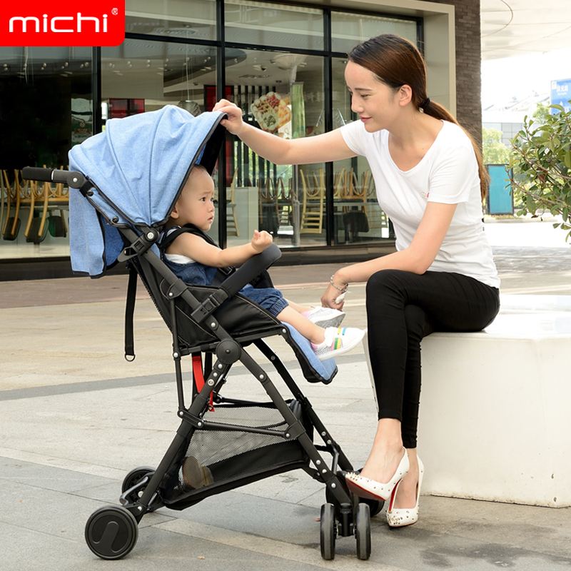4.1kg Ultra Light Baby Car Baby Stroller 4 Wheels Children Pushchair Kids Trolley Folding Can Sit And Lie Portable Baby Carriage light foldable baby stroller 3 in 1 cozy can sit and lie lathe umbrella car stroller carry bag 4 colour three wheels single seat