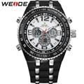 WEIDE Fashion Brand Running Waterproof Sport Watches For Men Analog Digital Display PU Band Quartz Movement Wrist Watch