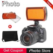 New Regulável 96 LED Photo Video Lâmpada de Luz de Preenchimento para Canon Nikon Sony DSLR SLR Camera DV Camcorder Fotografia de Casamento iluminação