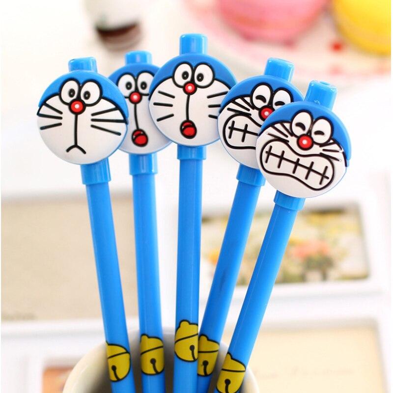 4 pcs/lot cartoon Doraemon gel pen writing pens stationery canetas material escolar office school supplies papelaria