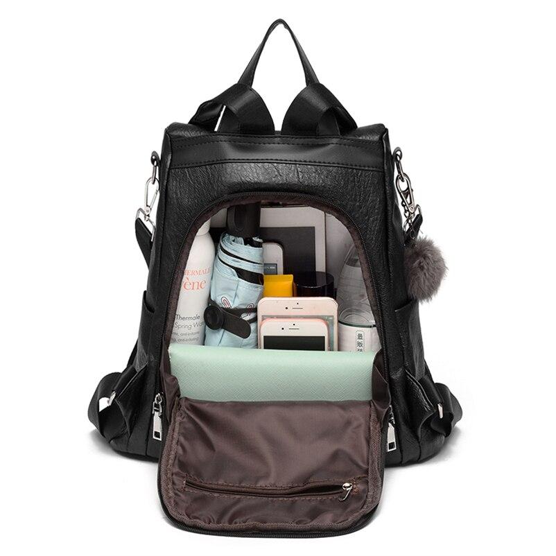 Nevenka 2018 Women Backpacks Fashion Leather Satchel Bags Sac Zipper Bags Casual Shoulder Bags Mochila15