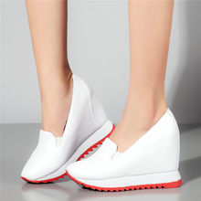 Platform Oxfords Women Trainers Genuine Leather Wedges High Heel Pumps Shoes Punk Creepers Casual Tennis