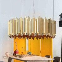 Delightfull Брубек люстра d100cm круглой формы глянцевый цвет золотистый Подвеска светильник лампа освещения современный итальянский дизайн