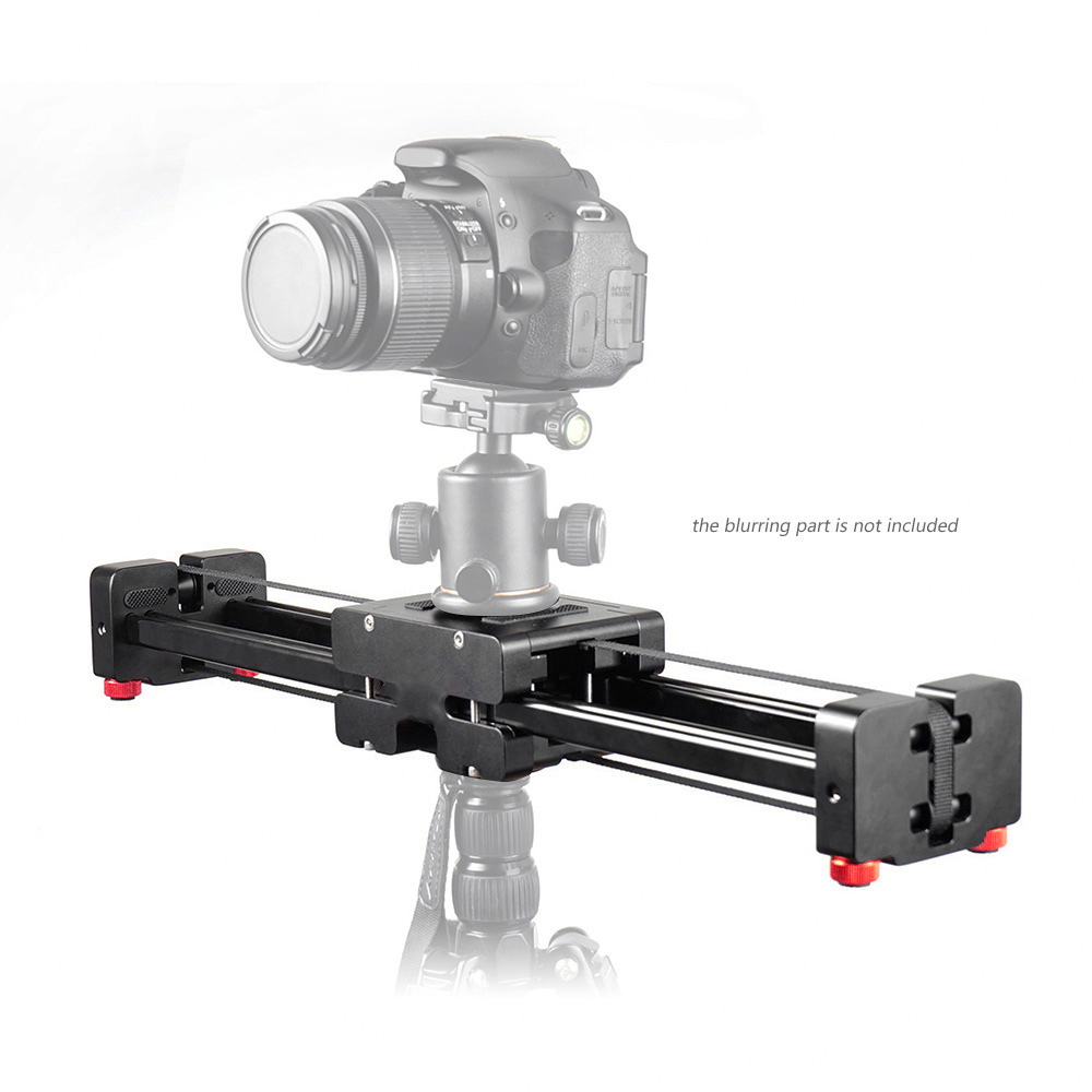 FT 40 40cm Rail Retractable Video Track Slider Dolly Camera Stabilizer 80cm Actual Sliding Distance for Canon Nikon Sony DSLRs