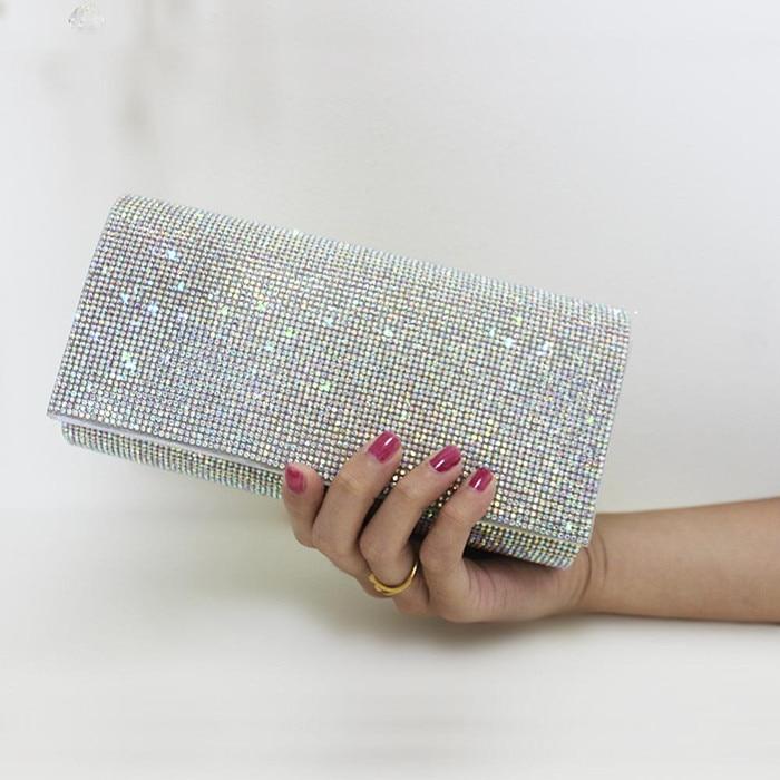 ФОТО Fashion Evening Bag Bridesmaid Handbag for Wedding Party Bling Crystal Day Clutch Handbag Phone Wallet Small Change Purse 2017