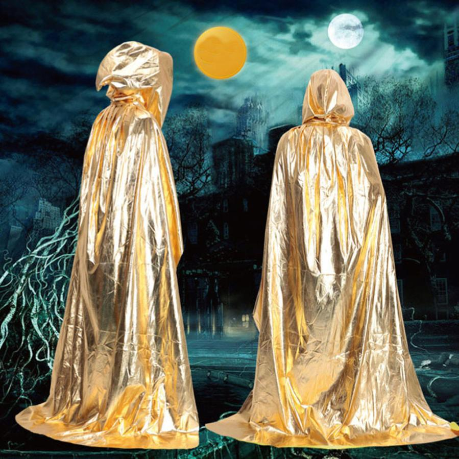 snowshine YLWX New Hooded Cloak Coat Wicca Robe Medieval Cape Shawl Halloween Party