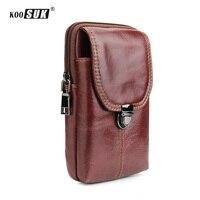 أزياء متعددة الوظائف حزام الخصر حقيبة الهاتف الحقيبة الرجعية جلد طبيعي جيوب محفظة غطاء لسامسونج حالة الحافظة ل فون