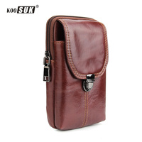 Fashion Multifunction Waist Bag Phone Pouch Retro Genuine leather Belt Pockets Wallet Cover For Samsung Holster For iPhone Case