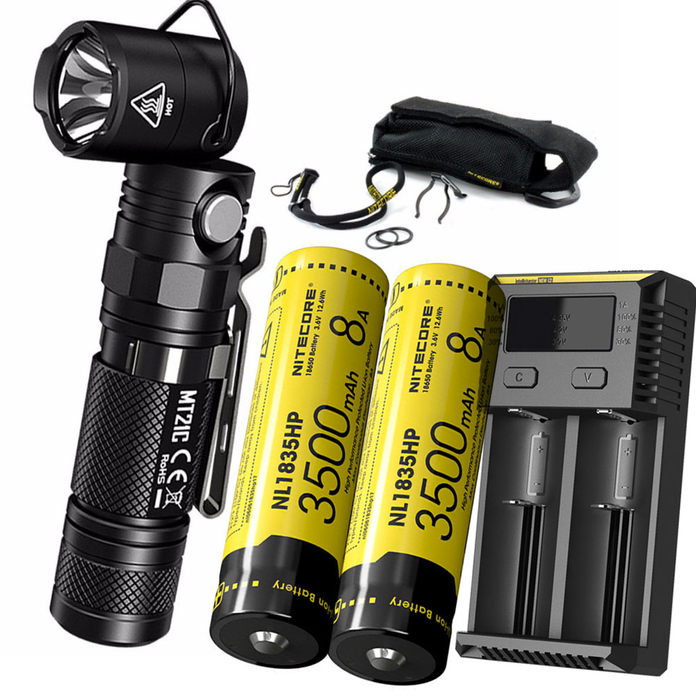 NITECORE MT21C Multi-functional Flashlight CREE XP-L HD V6 max 1000 lumen 90 Degree Adjustable torch +18650 battery + chargerNITECORE MT21C Multi-functional Flashlight CREE XP-L HD V6 max 1000 lumen 90 Degree Adjustable torch +18650 battery + charger
