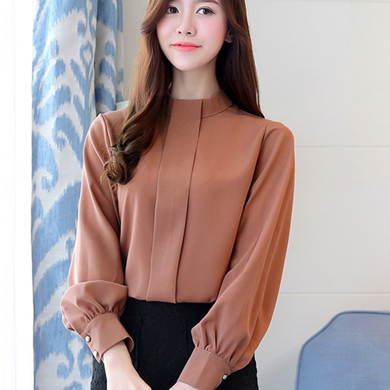 2018 New Spring Women Blouse Long Sleeve Plus Size Chiffon Blouse Fashion Ladies Shirts Casual Blusa Feminino Lady Shirt 93j