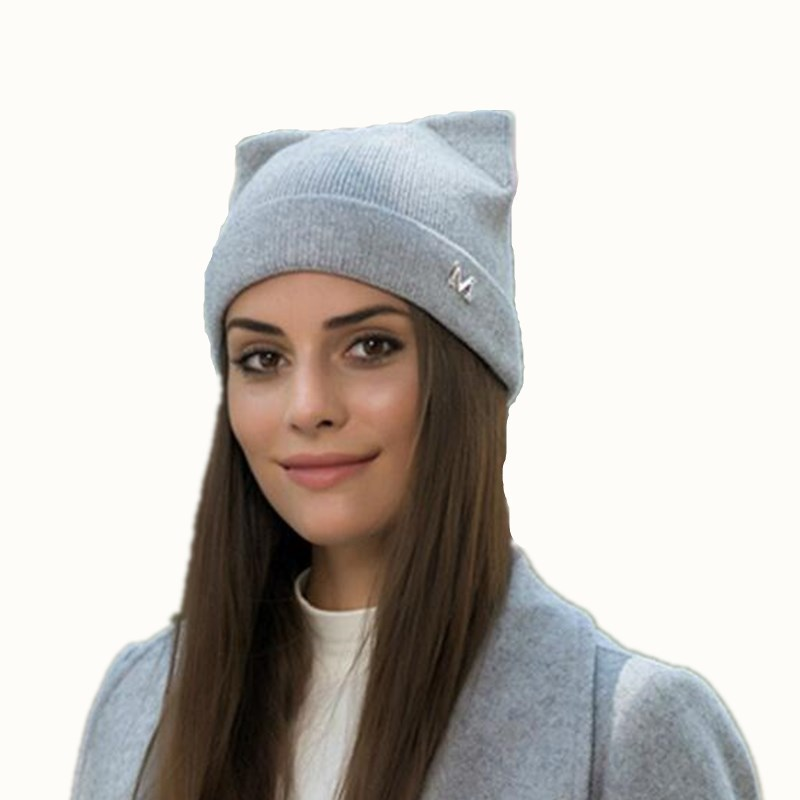 New Winter Hats Knitted Hat Hot Ears Cat Girl High Fashion Women Wool   Skullies   Women Cap Caps Trilby Balaclava   Beanies