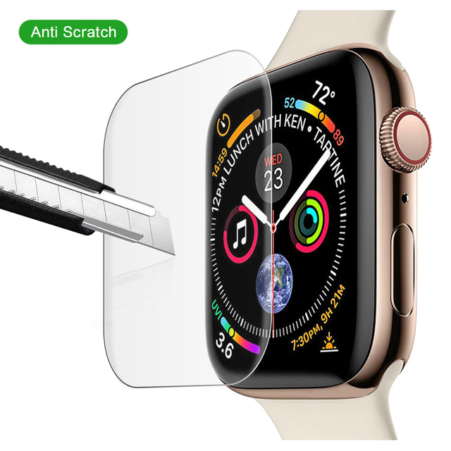 new concept 2d5ec ad7cc US $3.65 39% OFF CASEWIN Tempered Glass Film for Apple Watch Series 4 40MM  44MM Screen Protector for i Watch 4 Screen Cover for iwatch Series 4-in ...