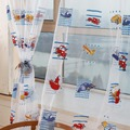 Toddler Kids Car Pattern Voile Curtains Door Room Drape Window Curtains for Living Room Children's Bedroom Cartoon Curtains