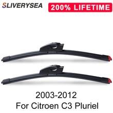 SLIVERYSEA Replace Wiper Blade for Citroen C3 Pluriel 2003-2012 Windshield Windscreen Natural Rubber Replacement