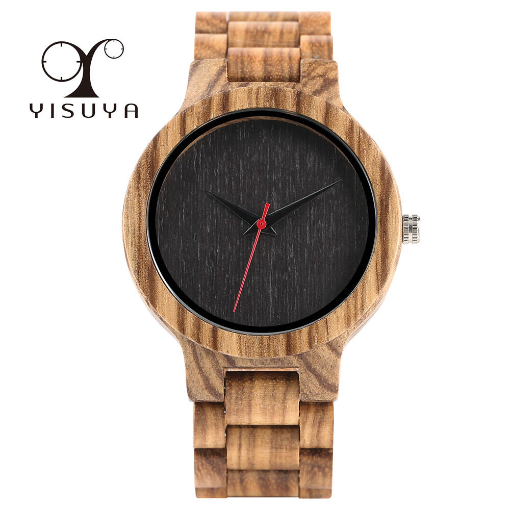 Full Wooden Watches Man Creative Bracelet Analog Nature Bamboo Quartz Wristwatch Male Clock Relogio Masculino Luxury Gift