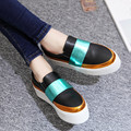 2016 New Brand Spring Women Flats Casual Leather Platform Ladies Shoes Fashion Moccasins Loafers Driving Shoes Woman