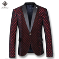 2016 Men Floral Dress Suits Blazers Jackets Coats Veste De Loisir Herren Anzug Men's Casual Fashion Slim Notched Lapel Blazers