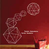 Free Shipping Wholesale And Retail Large Three Dimensional Geometry Pattern Wall Stickers Wall Decals Decal Home