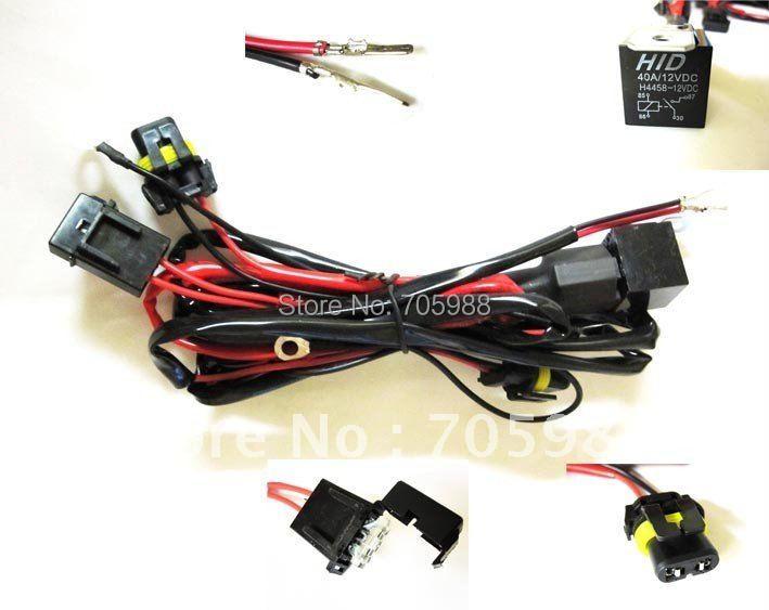 H3/H8/H9/H10/H11/880/881 Car HID Xenon Conversion Harness Fuse Relay