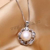 pearl jewelry,sterling silver cultured freshwater Pearl Pendant Necklace Natural real genuine Pearl Silver Pendant
