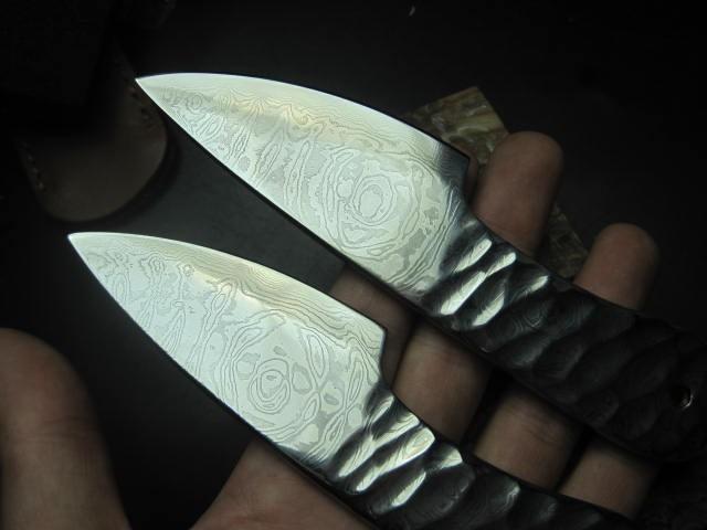 Купить 2016 Чэнь сян дао чай Руководство высокого углерода ковки Дамасская сталь нож Фрукты небольшой прямой нож дешево