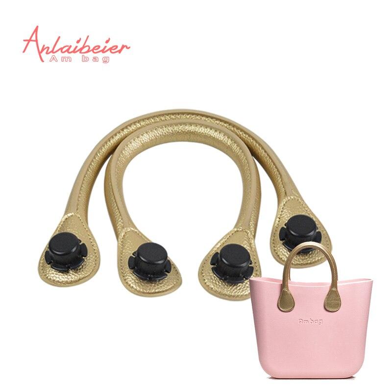 ANLAIBEIER New 1 Pair 45CM Short Soft Pu Faux Leather Handle for Obag AMbag Clas