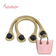 ANLAIBEIER New 1 Pair 45CM Short Soft Pu Faux Leather Handle for Obag AMbag Classic Mini O Bag Women Handbag