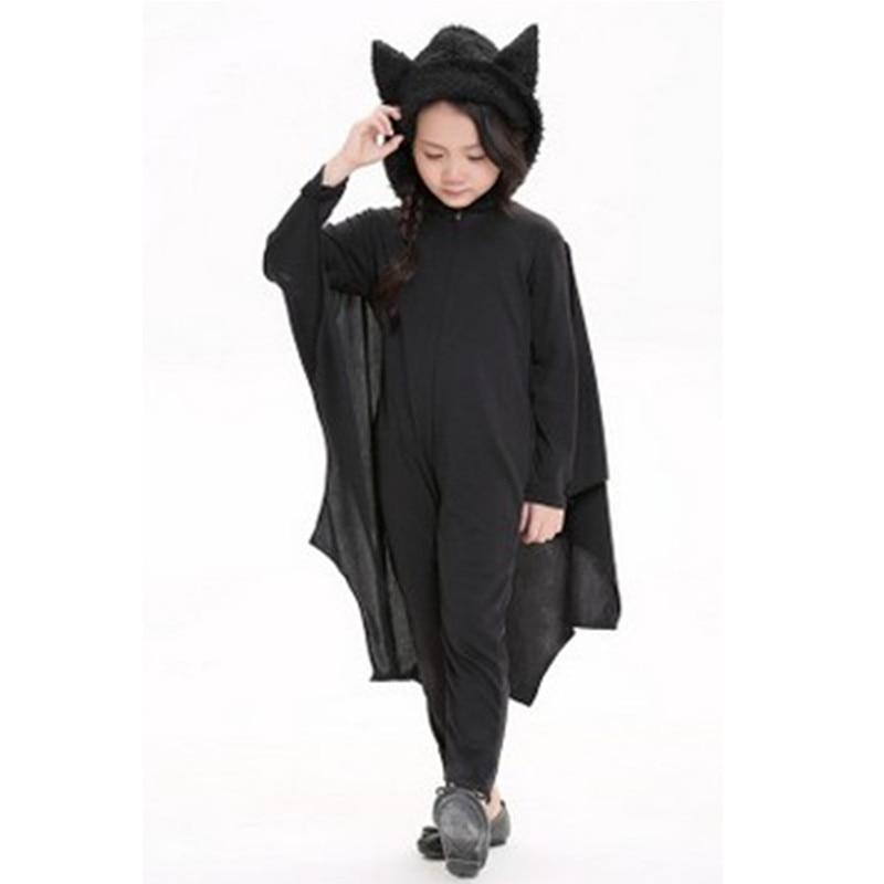 57476e9536cfff US $20.63 14% OFF|Unisex Girls boys jumpsuit Kigurumi batman Costumes  Children Halloween Vampire Bat Cosplays Carnival Purim Christmas party  dress-in ...