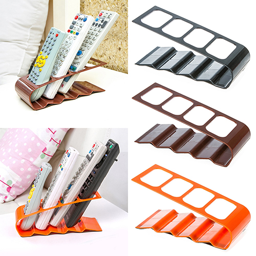 VCR DVD TV Remote Control CellPhone Stand Holder 4 Slots Storage Caddy Organiser Tools 7LZR