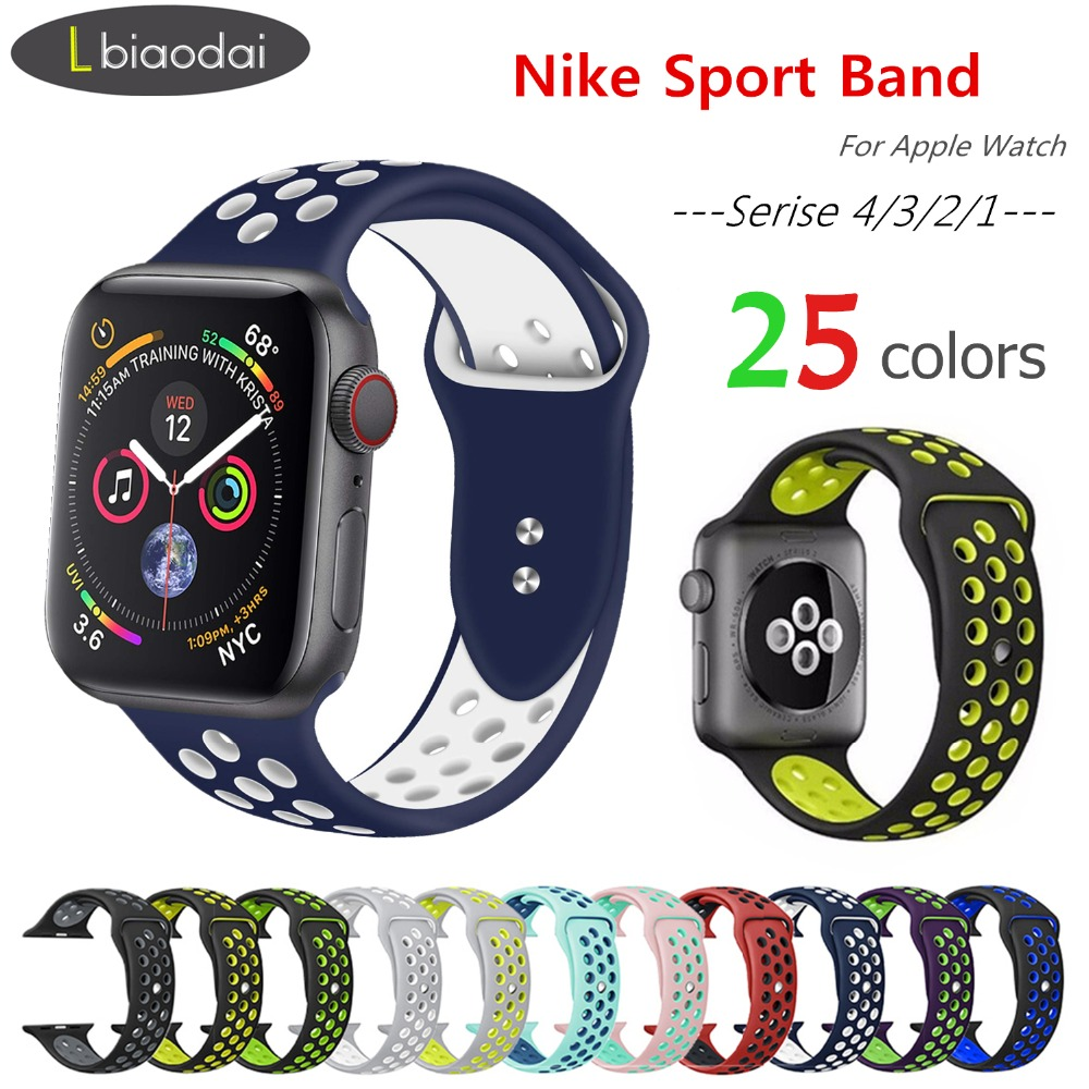Sport strap for apple watch 4/3 band 44mm/42mm iwatch band 38mm/40mm Nike sport band bracelet