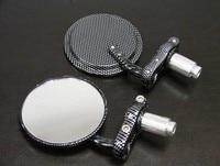 Brand New Black Carbon Fiber 7 8 Bar End Mirrors 3 For Yamaha Zuma Morphous Razz