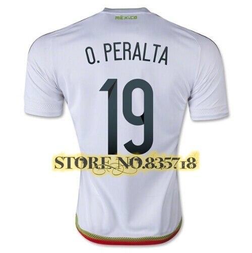 7e9618655 camisetas de futbol Mexico 2015 Home Away White Black M.LAHARITO Mexico 15 16  Soccer Jersey G.DOS SANTOYUN C.VELA PERALTA Shirt-in Soccer Jerseys from ...