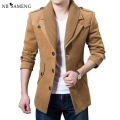 Wooled Coat Men Jacket 2017 Autumn Winter Famous Brand Casual Jaqueta Masculino Solid Color Men Overcoat Warm Coats 13M0359
