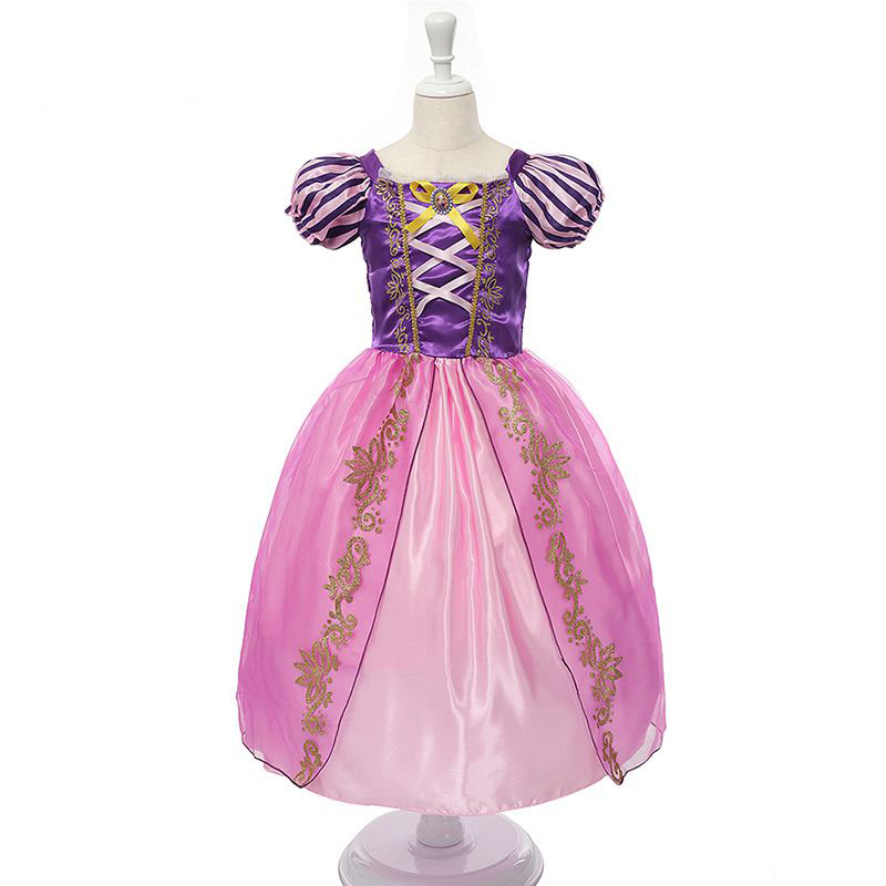 New Girls Cinderella Dresses Children Snow White Princess Dresses Rapunzel Aurora Party Halloween Costume Kids Dress