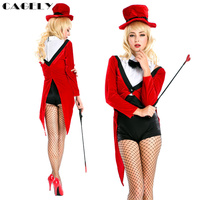 Magier Kostüm Tier Trainer Cosplay Outfits Set Weibliche Tamer Ringmaster Sexy Dessous Masquerade Ball Phantasie Party Kleid