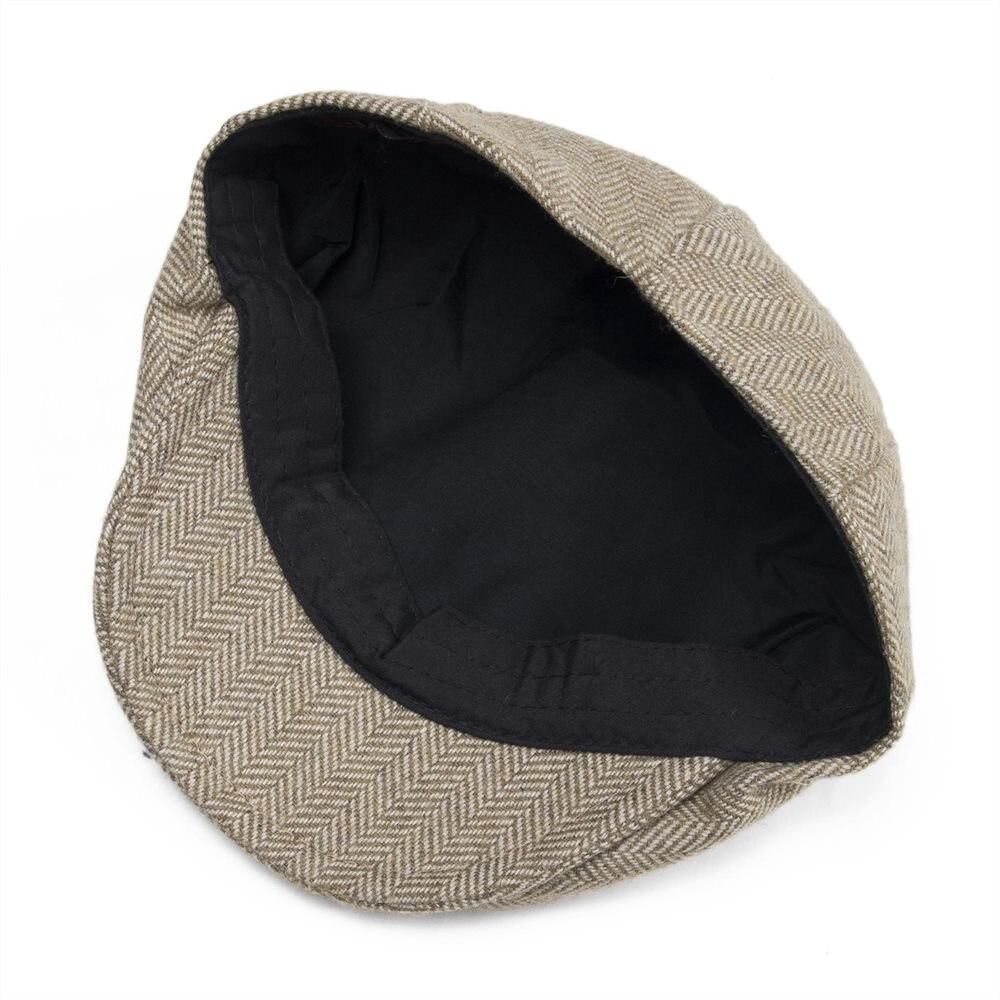 Damenmode Jangoul Small Size Kids Child Woollen Tweed Herringbone Flat Cap Boy Girl Newsboy Caps Infant Toddler Youth Beret Hat Boina 002